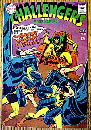 Challengers Of The Unknown Comic #61 May 1968