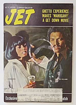 Jet Magazine October 9, 1975 Diana Ross & Billy Dee