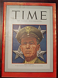 Time Magazine -october 19, 1942- General Marshall Cover