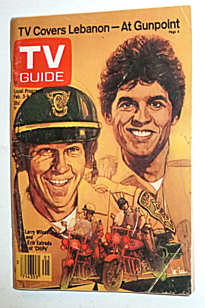 Tv Guide-february 3-9, 1979-erik Estrada & Larry Wilcox