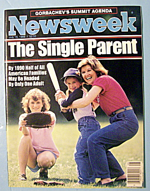 Newsweek Magazine-july 15, 1985 The Single Parent