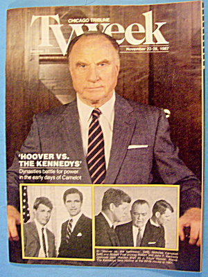Tv Week November 22-28, 1987 Hoover Vs The Kennedys