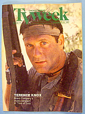 Tv Week December 6-12, 1987 Tour Of Duty: Terence Knox