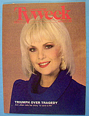 Tv Week January 3-9, 1988 Ann Jillian