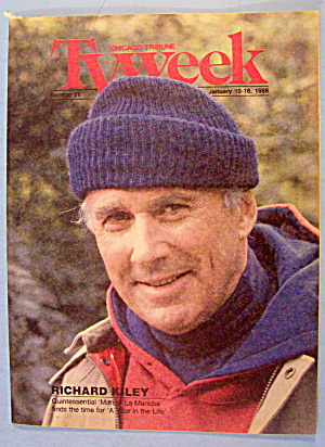 Tv Week January 10-16, 1988 Richard Kiley