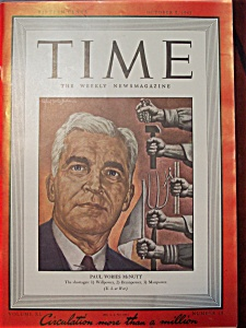 Time Magazine October 5, 1942 Paul Vories Mcnutt Cover