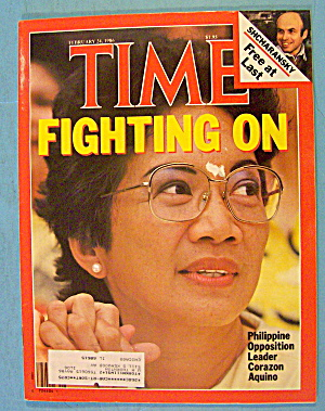 Time Magazine February 24, 1986 Leader Corazon Aquino