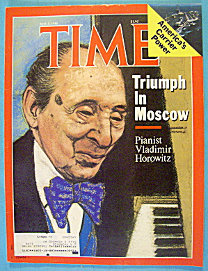 Time Magazine May 5, 1986 Pianist Vladimir Horowitz (Image1)