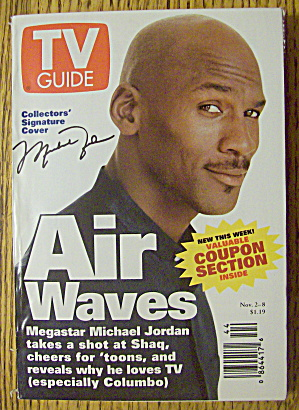 TV Guide November 2-8, 1996 Michael Jordan (Air Waves) (Image1)