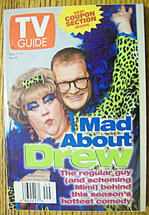 Tv Guide December 7-13, 1996 Mad About Drew Carey