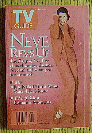 Tv Guide February 8-14, 1997 Neve Campbell Revs Up