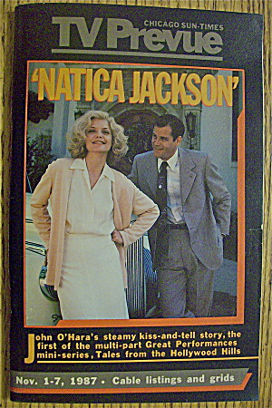 Tv Prevue November 1-7, 1987 Natica Jackson