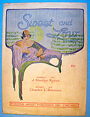 Sweet And Low Sheet Music 1919 Royce & Johnson