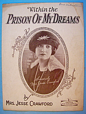 Prison Of My Dreams Sheet Music 1926 Jesse Crawford