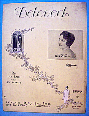 Sheet Music 1928 Beloved By Alice Zeppilli