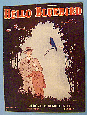Hello Bluebird Sheet Music 1926 Cliff Friend