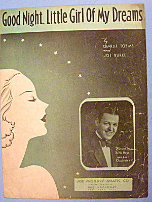 Good Night Little Girl Of My Dreams Sheet Music 1933 (Image1)