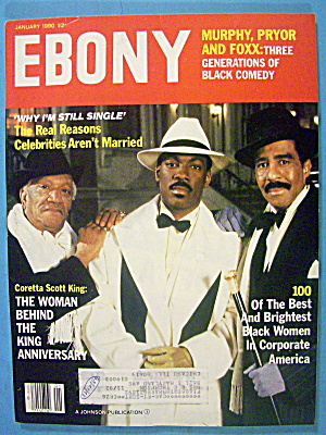 Ebony Magazine-january 1990-murphy, Foxx & Pryor