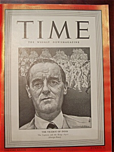 Time Magazine - March 16, 1942 - Viceroy Of India Cover