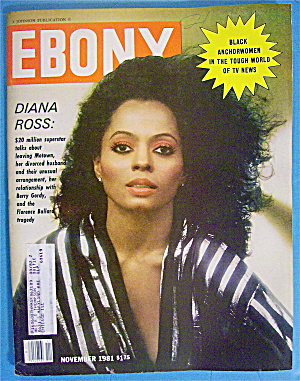 Ebony Magazine-november 1981-diana Ross