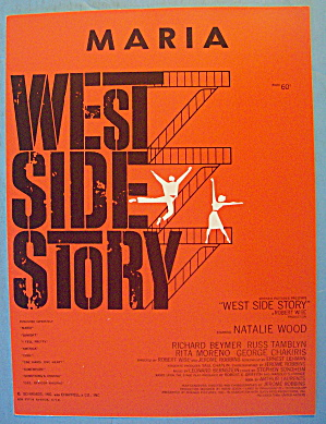 Maria Sheet Music 1957 West Side Story