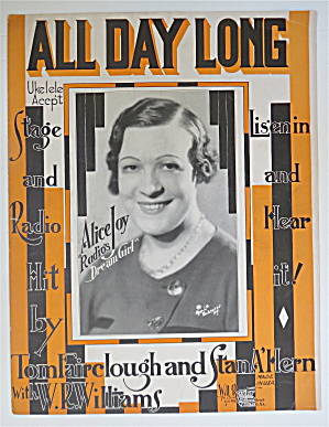 1932 All Day Long By Fairclough & Hern