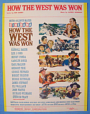 How The West Was Won Sheet Music 1963 Darby/newman