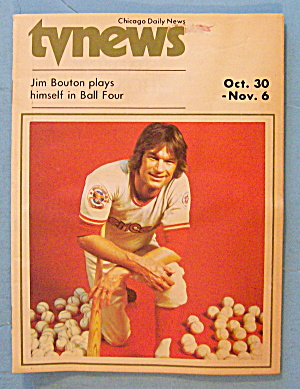 TV News October 30-November 6, 1976 Baseball Jim Bouton (Image1)