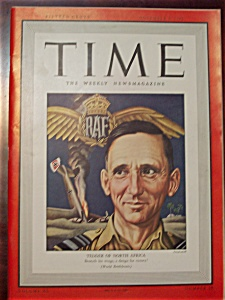 Time Magazine - November 9, 1942 - Raf Tedder Cover