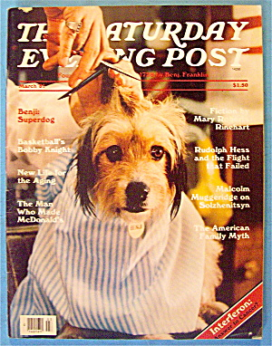 Saturday Evening Post Magazine March 1981 Benji The Dog (Image1)
