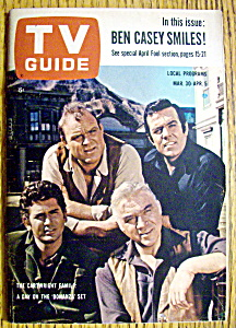 Tv Guide-march 30-april 5, 1963-cartwright Family