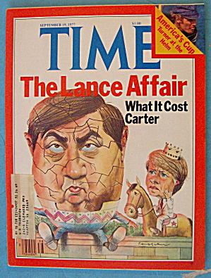 Time Magazine September 19, 1977 The Lance Affair