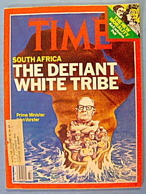Time Magazine November 21, 1977 South Africa