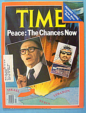 Time Magazine March 27, 1978 Peace: The Chances Now