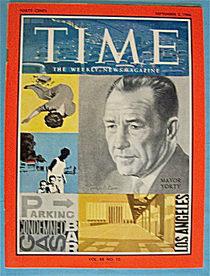 Time Magazine September 2, 1966 Mayor Yorty
