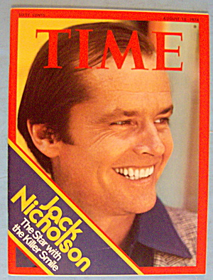 Time Magazine August 12, 1974 Jack Nicholson