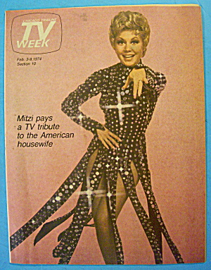 Tv Week February 3-9, 1974 Mitzi Gaynor