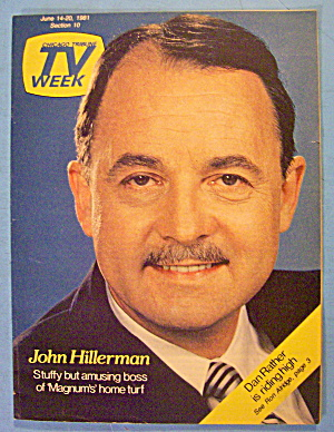 Tv Week- June 14-20, 1981 John Hillerman