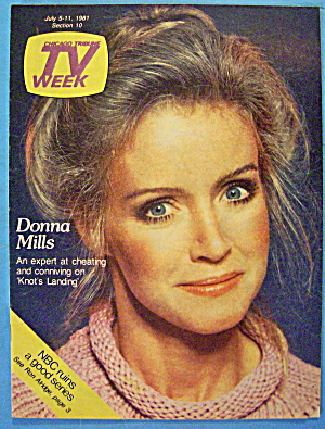 Tv Week July 5-11, 1981 Donna Mills