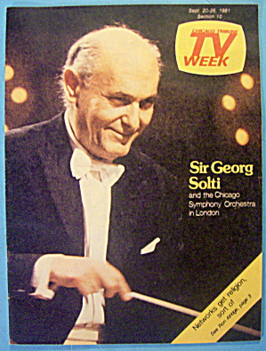 Tv Week September 20-26, 1981 Sir Georg Solti