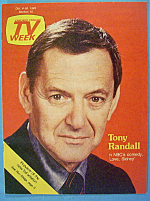 Tv Week October 4-10, 1981 Tony Randall