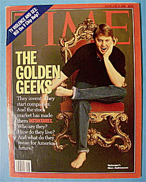 Time Magazine February 19, 1996 The Golden Geeks