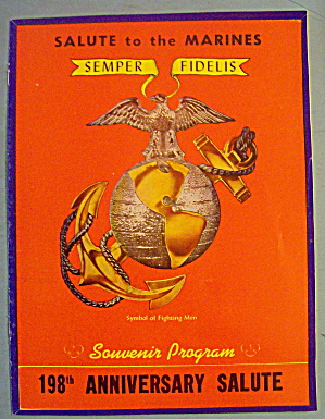 Salute To The Marines Souvenir Program November 9, 1973