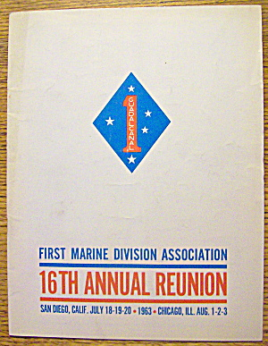 1st Marine Division Association Reunion Program 1963