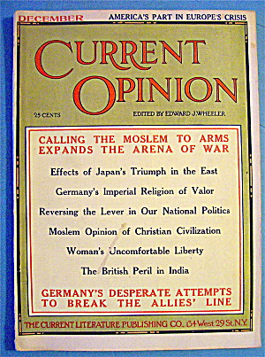 Current Opinion Magazine December 1914
