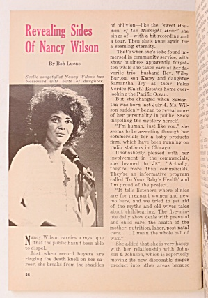 Jet Magazine February 19, 1976 Nancy Wilson (Ebony/Jet) at A Date In