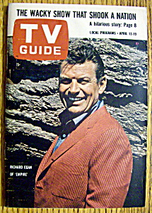 Tv Guide-april 13-19, 1963-richard Egan Of Empire