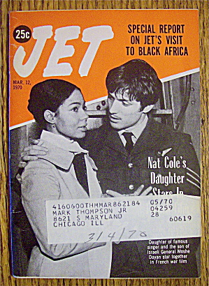 Jet Magazine March 12, 1970 Nat Cole's Daughter