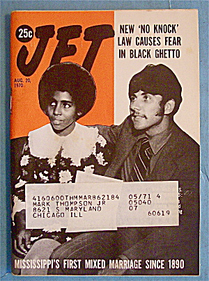 Jet Magazine August 20, 1970 First Mixed Marriage