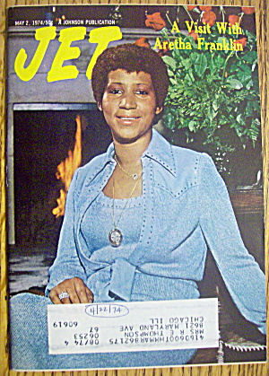 Jet Magazine May 2, 1974 Visit With Aretha Franklin